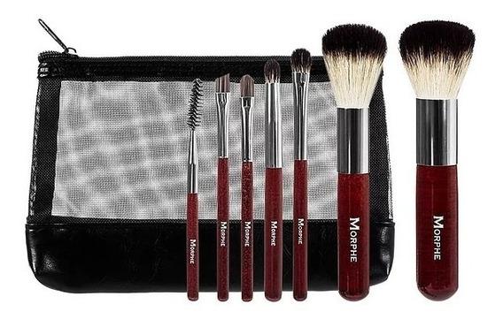 Set Morphe N° 602mini Badger Brush 7 Brochas Pelo Nat Y Sint
