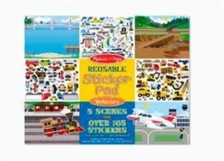 Juego Reusable Sticker Pad - Vehicles