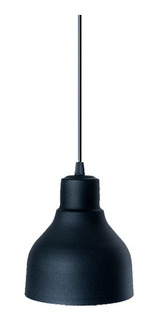 Lampara Colgante Industrial Negro En Aluminio Apto Led 330