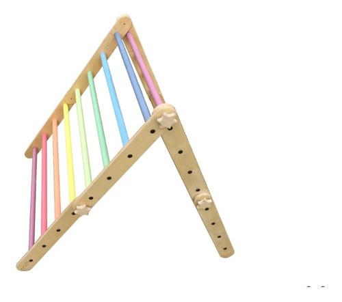 Imagen 1 de 3 de Triangulo Pikler Madera Nanu Niños Transformable Gym Msi