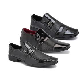 311e11cda Sapato 3 Fivelas Couro Verniz Sapatos Sociais Masculino - Sapatos ...