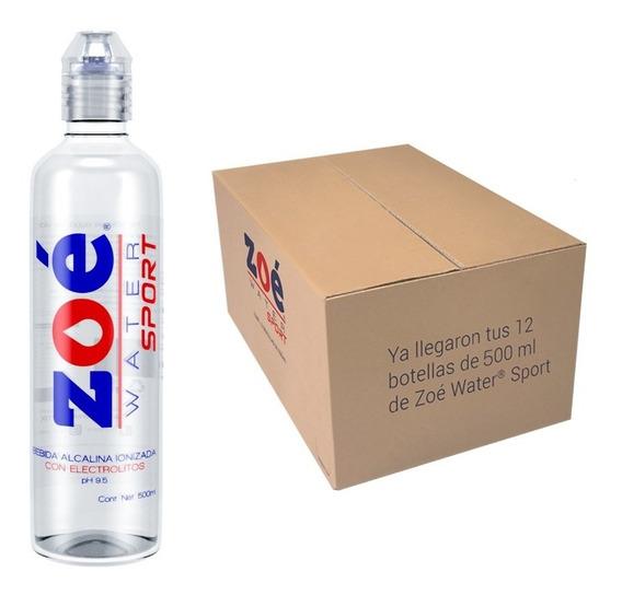Agua Alcalina Con Electrolitos Zoé Water 500ml -12 Botellas