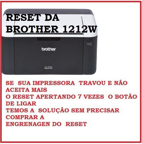Reset Brother Hl 1212w Toner Travou -frete Grátis Email