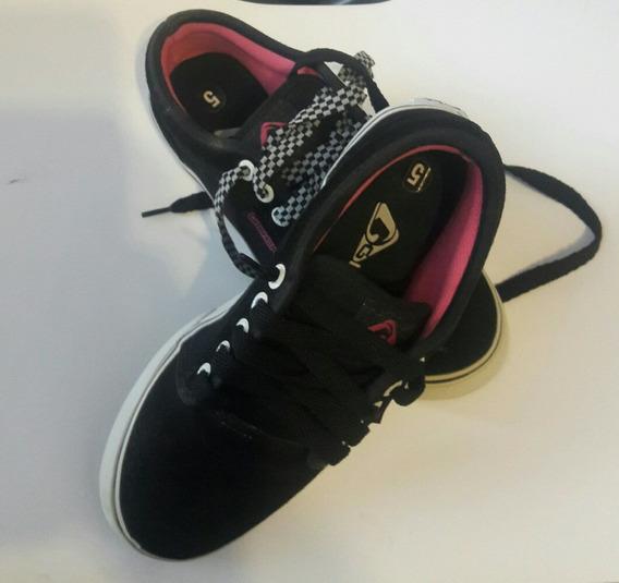 Zapatillas Glock California 35 Negro Y Rosa