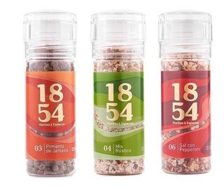 Condimentos Y Especias Set 3 Molinillos Premium 1854