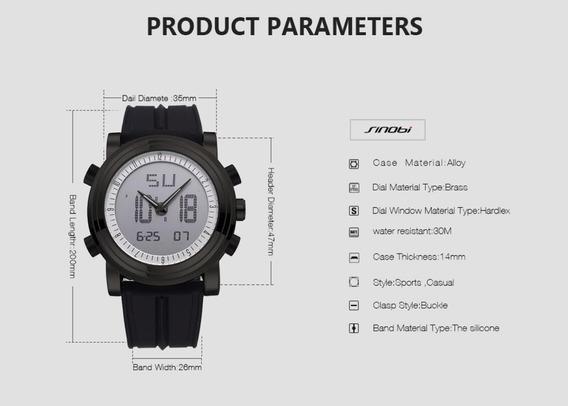 Relógio Masculino Digital E Analogico Elegante Mega Promoção