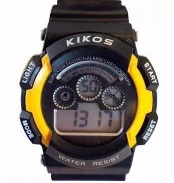 Relógio Digital Unissex Kikos Original Amarelo Sport Lindo!!