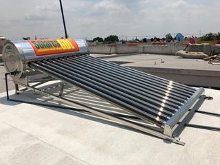 Calentador Solar De 150 Litros 12 Tubos, Altura Baja, Acero