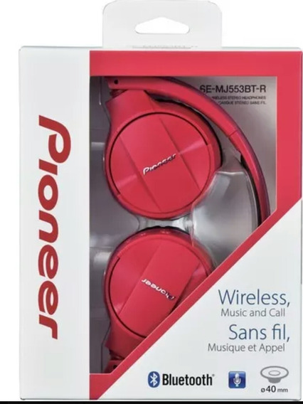 Headphone Pioneer Vermelho Bluetooth Se-mj553bt-r