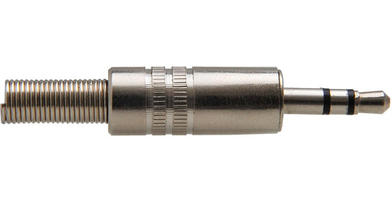 Plug P2 Estéreo De Metal Com Mola Pgpd0004 Níquel Storm - Pc