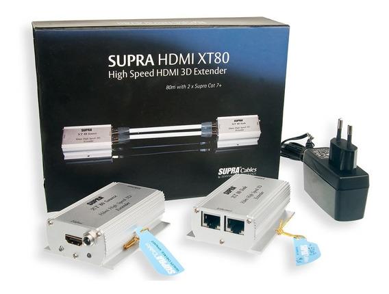 Extensor Hdmi 3d Supra Xt80 2vias (conjunto Sink/extender)