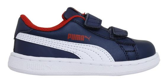 Zapatillas Puma Moda Smash V2 L V Inf Adp Bebe Mn/bl