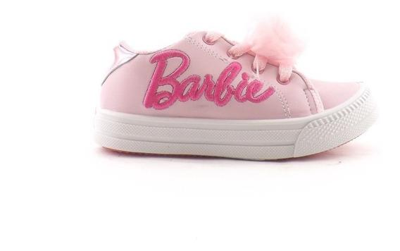 Zapatilla Barbie Nena Niñas Cordon Pompon Liquidacion 21-26