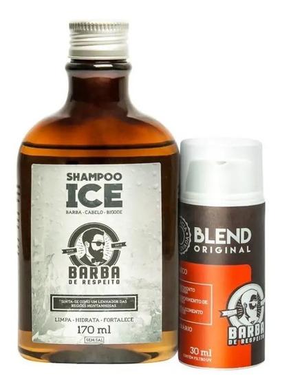 Kit Crescimento Barba Shampoo Ice E Blend Barba De Respeito