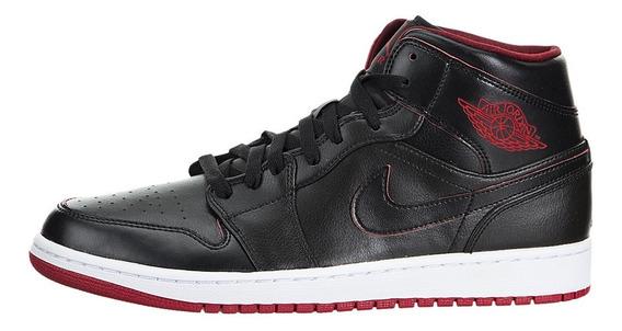 Tenis Nike Air Jordan 1 Mid Black Red 2015 Tamanho 39 Br