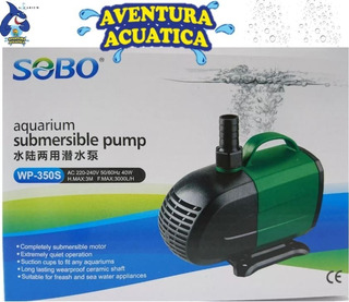Bomba De Agua Sumergible Para Acuarios Wp-350s Sobo