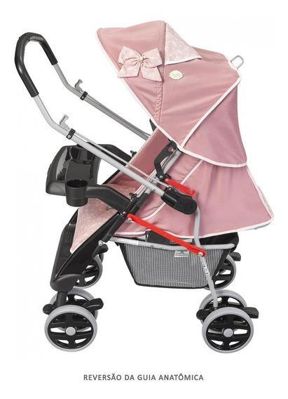 Carrinho Berço Alça Reversível Thor Plus Tutti Baby - Rosa