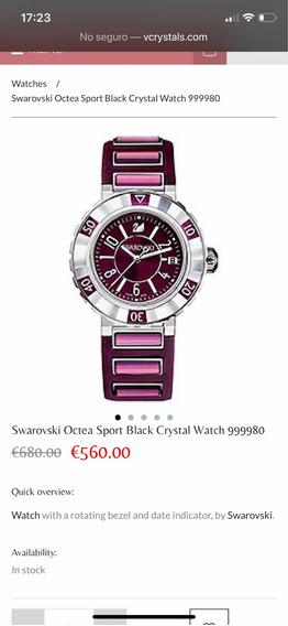 Reloj Swarovski Morado Precio Regular $9,990 En Tiendas