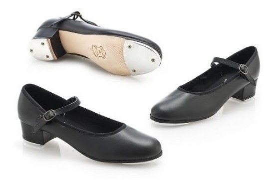 Sapato Feminino Sapateado, Salto 4cm Com Chapa Colocada