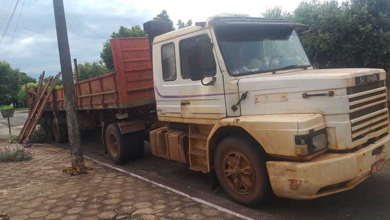 Scania 112h 4x2 Engatada Numa Carreta Graneleira Ano 86