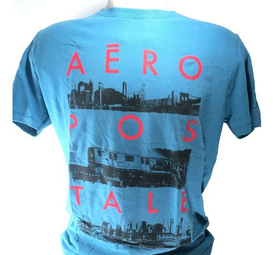 Camisa Aeropostale Masculina Azul M Original