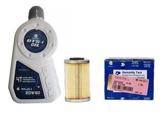 Kit Filtro De Aceite 200 Ns + Aceite Bajaj 1.2 Lts Gb Motos