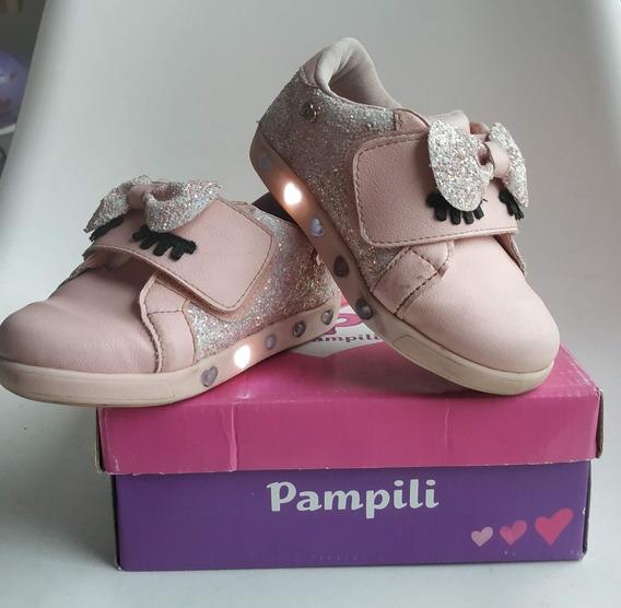 Zapatillas Nena Con Luces Y Glitter