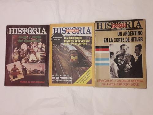 Todo Es Historia Lote De Revistas Números 322 142 Y 195