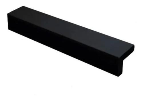 Imagen 1 de 7 de Manija Tirador Mueble Cocina Aluminio Negro Ma1.128 Emr