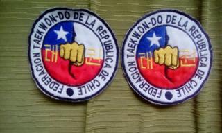 Parches Bordados Federación Taekwondo Chile.