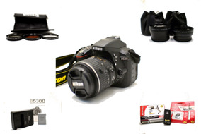 Câmera Nikon D5300 + 18-55mm + Filtros + Sd + Kit Limpeza