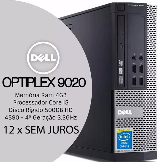 Computador Dell Optiplex 9020, I5, Ram 4gb, Hd 500gb, Win10