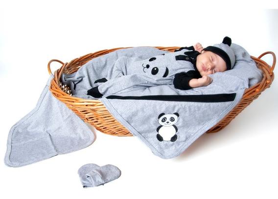 Conjunto Para Recém Nascido 5 Peças Bebê Panda