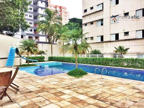 Apartamento Com 3 Dormitórios À Venda, 90 M² Por R$ 680.000 - Jardim - Santo André/sp - Ap0472
