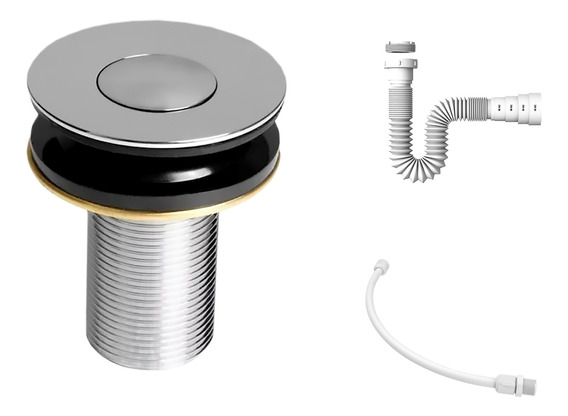 Kit C/válvula Click Up 7/8b + Sifão + Flexível