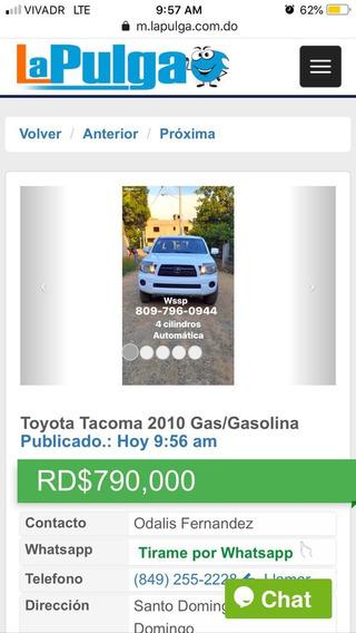 Toyota Tacoma 2010 4×2 Automatica