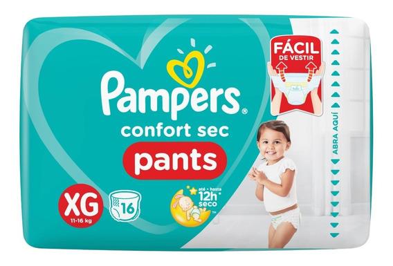 Pañales Pampers Confort Sec Pants Xg 16u