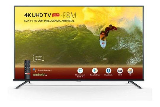 Smart Tv Tcl Led 4k 50 Comando De Voz E Wi-fi - 50p8m