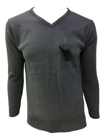 Suéter Oxford Claro Cuello V Hombre