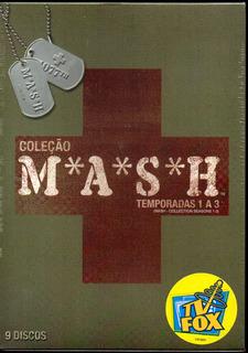 Coleção Mash 1ª,2ªe3ª Temporadas - Box Com 9 Dvds - Lacrado