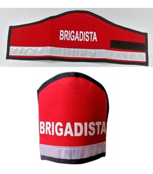 Brazalete Para Brigadista Rojo Y Franja Reflectiva Medellin