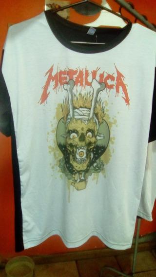 Remeras Modal Varios Diseños Metallica Motorhead Discontinuo