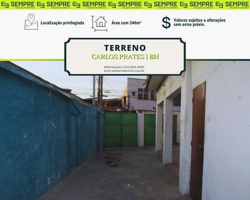 Imagem 1 de 11 de Terreno À Venda, 346 M² - Carlos Prates - Belo Horizonte/mg - Te0025