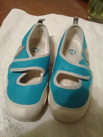 Zapatillas Marca Merrel Impecables Nº 36 Color Turqueza