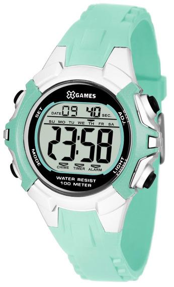 Relógio X-games Feminino Digital Xfppd052 Bxax Verde