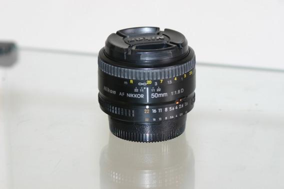 Lente Nikon 50mm 1.8 De Abertura