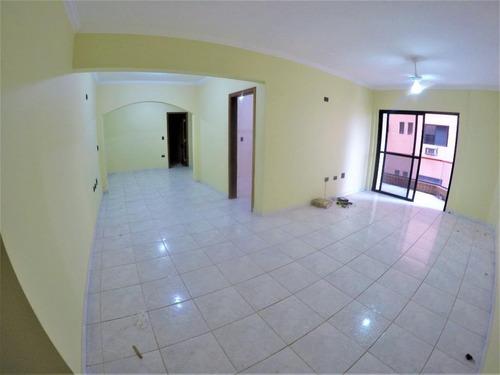 Imagem 1 de 30 de Apartamento Próximo Da Praia Com 2 Dormitórios E 2 Vagas  Para Alugar, 100 M² Por R$ 2.500/mês - Canto Do Forte - Praia Grande/sp - Ap3512