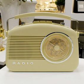 Rádio De Mesa Am/fm Retrô Vintage Old 12x S Juros - 53935