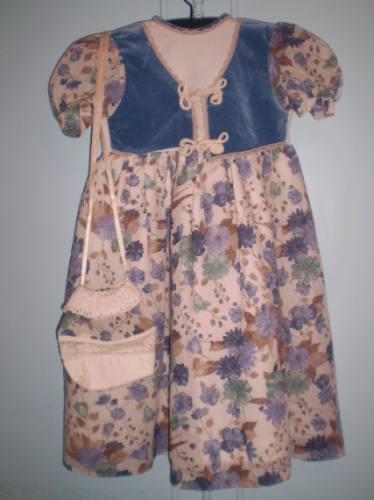 Vestido De Fiesta Para Nena Con Carterita