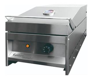 Parrilla Grill Electrica Kokken Acero Inoxidable 35 X 60 Cm